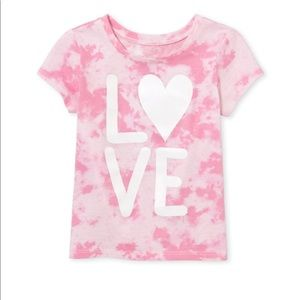 """NWT Washed Rose Mist Pink """"LOVE"""" Top Shirt 18-24mo"""